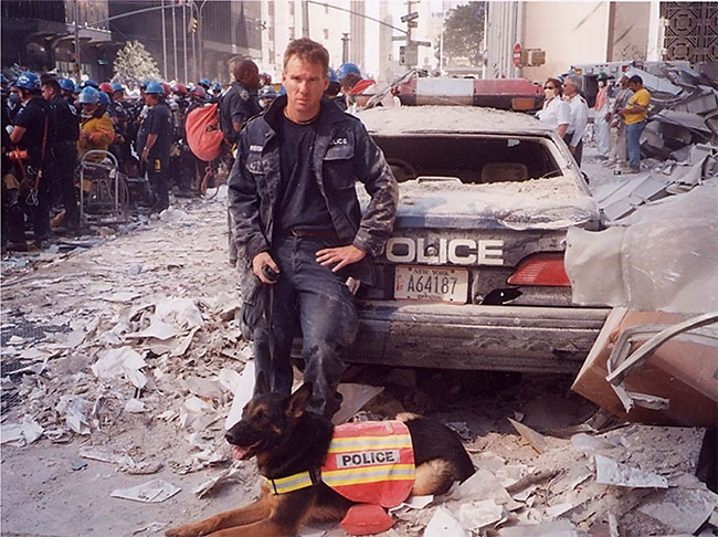 James Symington and Trakr in the aftermath of 9/11